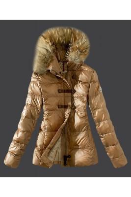 2016 Moncler Fashion Down Women Jacket Fur Collar Light Ta