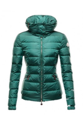 Moncler Sanglier Popular Jackets Womens Zip Collar Green