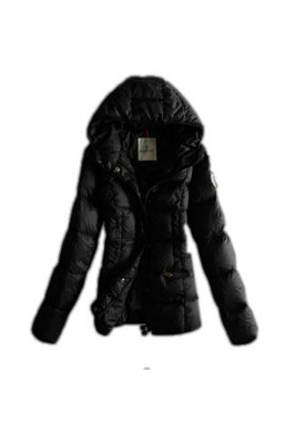 Moncler Top Quality Womens Jackets Hat Pure Color Black