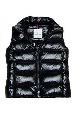 Cheap Moncler Down Sleeveless Vest Women Zip Black