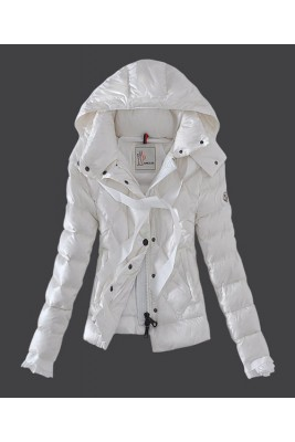 2016 Moncler Fashion Leisure Womens Down Jackets White