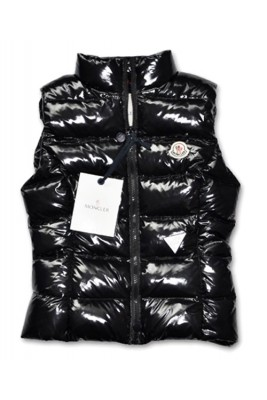Moncler Chany Down Vest Women Zip Short Black