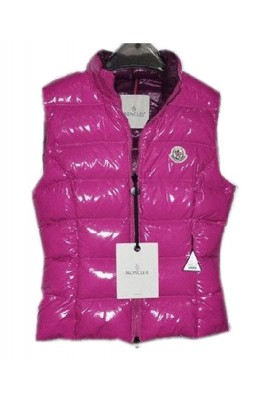 Moncler Chany Down Vest Women Zip Short Pink