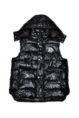 Moncler Fashion Down Vest Women Button Hat Black