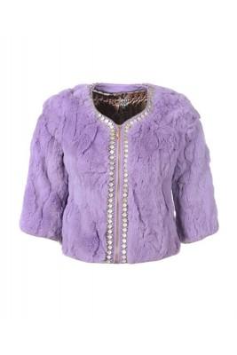2016 Moncler Fashion Women Jackets Warm Fur Purple
