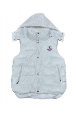 Moncler Fashion Down Vest Women Button Hat White