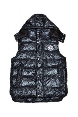 Moncler Fashion Down Vests Women Button Hat Black