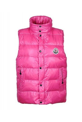 Moncler Unisex Down Vests Single-Breasted Pink