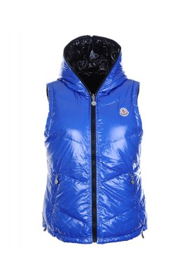 Moncler Womens Sleeveless Vests Double-Sided Blue
