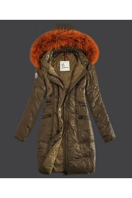 2016 Moncler Fashion Womens Down Coats Windproof Khaki