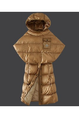 2016 Moncler Featured Down Coats Womens Hooded Light Tan