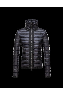 2016 Moncler Fluette Winter Womens Jacket Zip Collar Black
