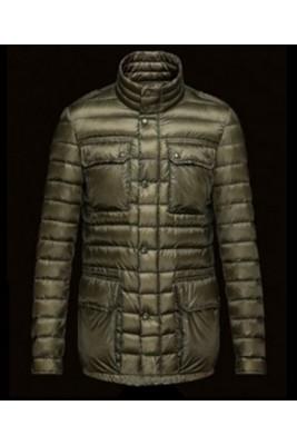 2016 Moncler Arnoux Down Jacket Men Stand Collar Army Gree