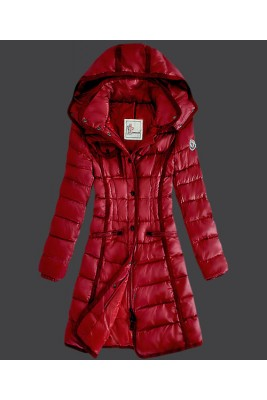 2016 Moncler Hermine Down Coats Womens Windproof Red