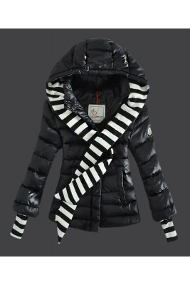 2016 Moncler Jacket Women Single Breasted Hooded Black