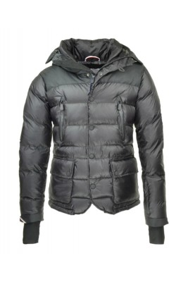 2016 Moncler Bataillouse Men Down Jackets Zip Button Black