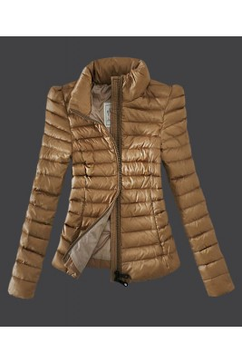 2016 Moncler Jackets Womens Zip Slim Stand Collar Light Ta