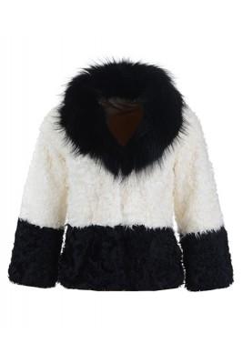 2016 Moncler Latest Fashion Jackets Women Fur Black White