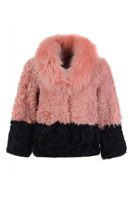 2016 Moncler Latest Fashion Jackets Women Fur Pink Black