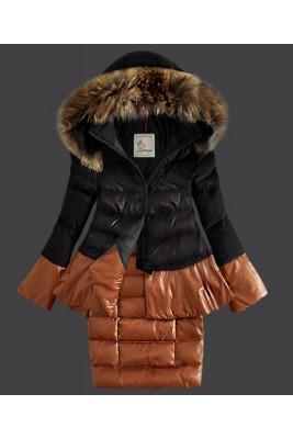 2016 Moncler Miwako Down Coats Womens Hooded Black