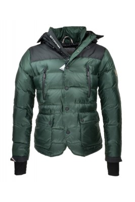 2016 Moncler Bataillouse Men Down Jackets Zip Button Green