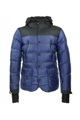 2016 Moncler Bataillouse Men Down Jackets Zip Button Navy