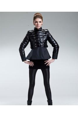 2016 Moncler Sumiko Jackets Women Button Buckle Black