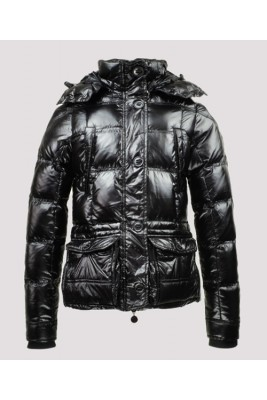 2016 Moncler Trinon Jackets Womens Zip Button Hat Black