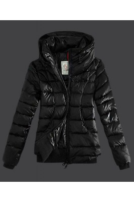 2016 Moncler Winter Jackets Womens Zip Stand Collar Black