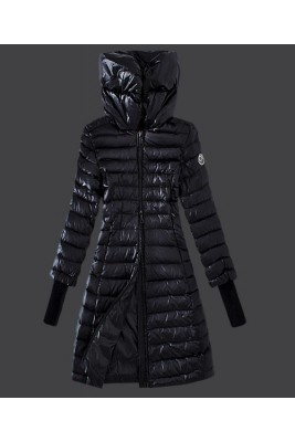 2016 Moncler Women Coat High Stand Collar Windproof Black