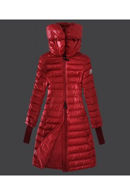 2016 Moncler Women Coat High Stand Collar Windproof Red
