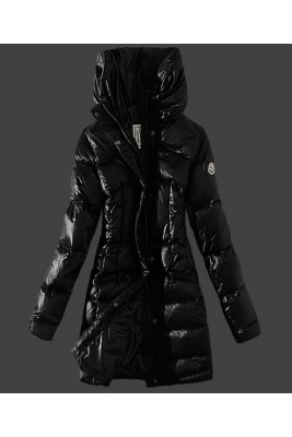 2016 Moncler Womens Coats Stand Collar Windproof Black