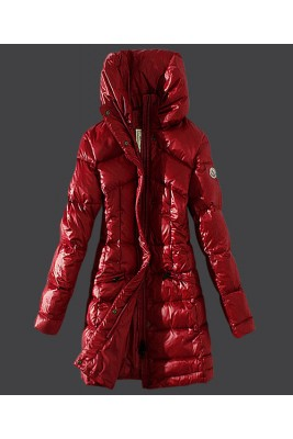 2016 Moncler Womens Coats Stand Collar Windproof Red