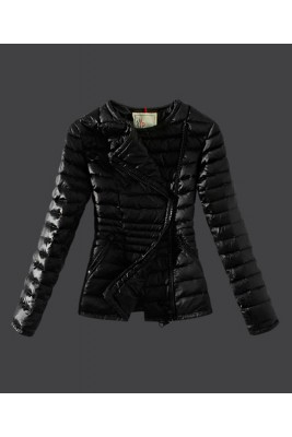 2016 Moncler Womens Down Jackets Featured Zip Black