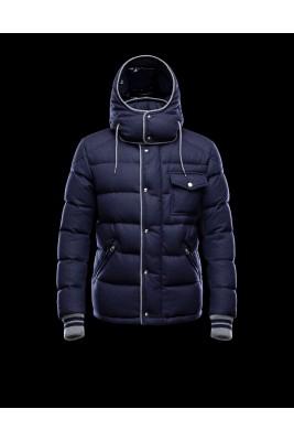 2016 Moncler BRESLE Euramerican Style Mens Jackets Blue
