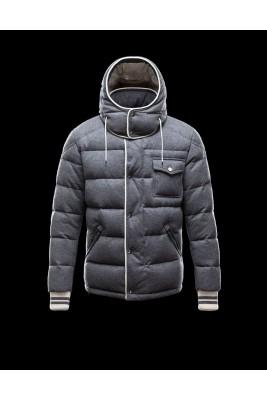 2016 Moncler BRESLE Euramerican Style Mens Jackets Gray