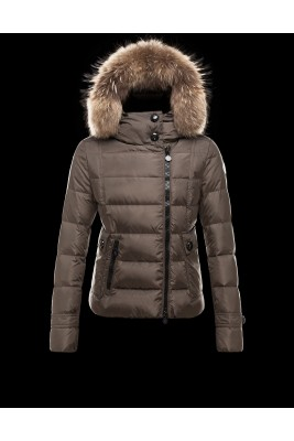 2016 Moncler Bryone Down Jacket For Women Dark Green