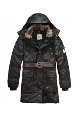 Moncler Down Coats Mens Mid-Length Hooded Black