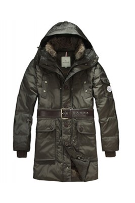 Moncler Down Coats Mens Mid-Length Hooded Green