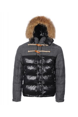 Moncler Anthime Cheap Jacket Men Single-Breasted Black