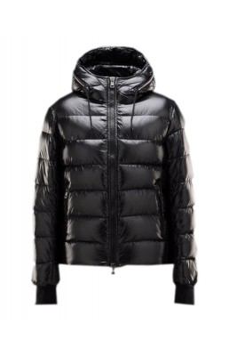 Moncler Aubert Euramerican Style Jacket Men Zip Hooded Black