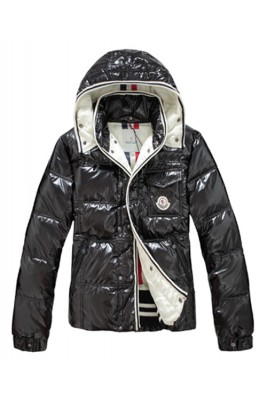 Moncler Branson Classic Men Down Jackets With Hat Black
