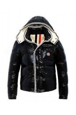 Moncler Branson Classic Mens Down Jackets Black Short