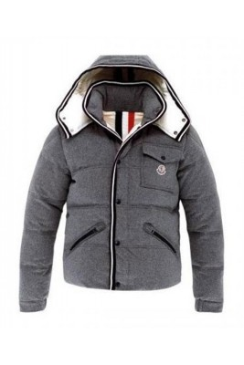 Moncler Branson Classic Mens Down Jackets Grey Short