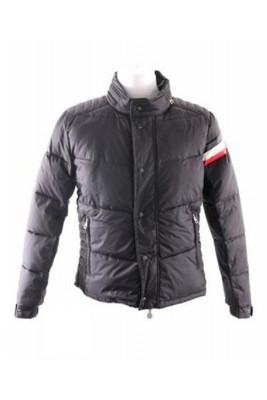 Moncler Chamonix Down Jacket Men Buttons Dark Blue Short