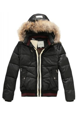 Moncler Designer Mens Down Jackets With Rabbit Hat Black