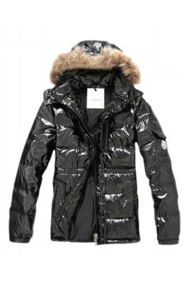 Moncler Down Jackets For Men Rabbit Fur Cap Style Army Black