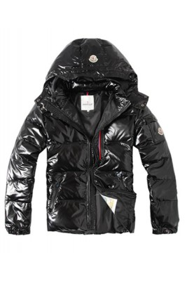 Moncler Euramerican Style Men Down Jackets With Hood Black