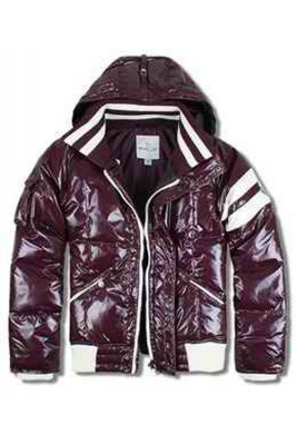 Moncler Leon Down Jackets Mens With Hooded Zip Purple