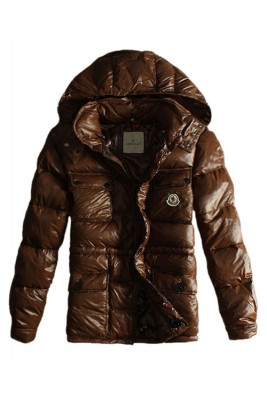 Moncler Men Jacket Design Multi Pockets With Cap Coffee